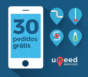 Uneed Services - 30 pedidos gratis